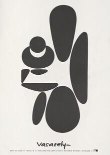 Vintage Collection, Victor Vasarely Ausstellungsplakat von 1964 (Deutschland, Europa)