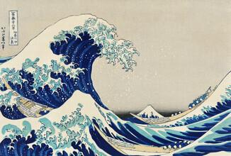 Japanese Vintage Art, Kanazawa Oki Nami Ura by Katsushika Hokusai (Japan, Asia)