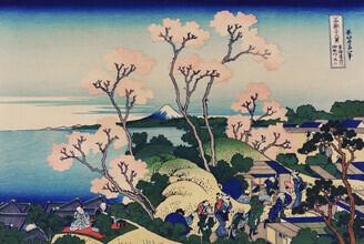 Japanese Vintage Art, Goten-Yama Hill, Shinagawa on the Tokaido by Katsushika Hokusai (Japan, Asia)