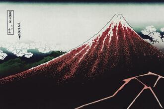Japanese Vintage Art, Sanka Hakuu by Katsushika Hokusai (Japan, Asia)