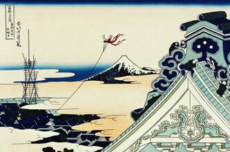 Japanese Vintage Art, Toto Asakusa Honganji by Katsushika Hokusai (Japan, Asia)