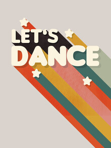 Ania Więcław, Let's Dance - retro rainbow typography (Poland, Europe)