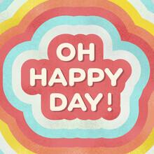 Ania Więcław, OH HAPPY DAY! positive typography (Poland, Europe)