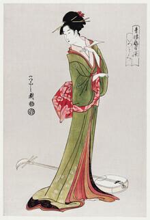 Japanese Vintage Art, Itsutomi by Eishi Hosoda (Japan, Asia)