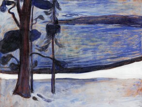 Art Classics, Edvard Munch: Winter in Nordstrand (Germany, Europe)