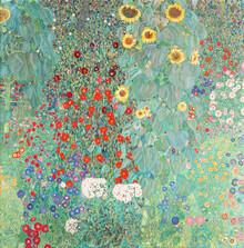 Art Classics, Gustav Klimt: Cottage garden with sunflowers (Germany, Europe)