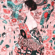 Art Classics, Gustav Klimt: Frau mit Fächer (pink) (Deutschland, Europa)