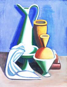Art Classics, Vilhelm Lundstrøm: Still Life with Water Jug, Towel and Jars (Germany, Europe)