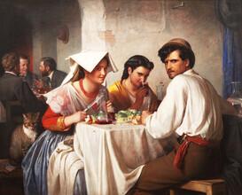 Art Classics, Carl Bloch: In a Roman Osteria (Germany, Europe)