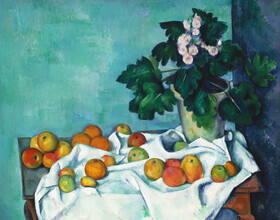 Art Classics, Paul Cézanne: Still Life with Apples and a Pot of Primroses (Germany, Europe)