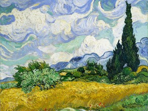 Art Classics, Wheat Field with Cypresses by Vincent van Gogh (Germany, Europe)