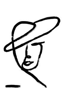 The Artcircle, Line Art - Gesicht einer Dame von Studio Lignes (Deutschland, Europa)