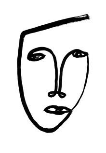 The Artcircle, Line Art - Gesicht Inkognito von Studio Lignes (Deutschland, Europa)