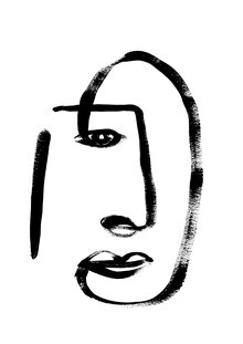 The Artcircle, Line Art - Gesicht eines Signior von Studio Lignes (Deutschland, Europa)