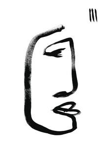 The Artcircle, Line Art - Gesicht eines Mannes von Studio Lignes (Deutschland, Europa)