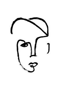 The Artcircle, Line Art - Casual Gesicht von Studio Lignes (Deutschland, Europa)