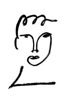 The Artcircle, Line Art - Jugendliches Gesicht von Studio Lignes (Deutschland, Europa)