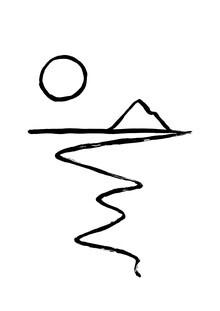 The Artcircle, Line Art - Küstenblick von Studio Lignes (Deutschland, Europa)