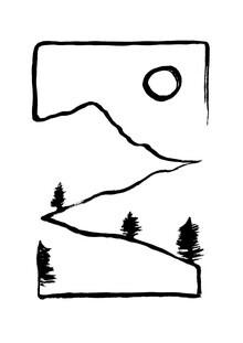 The Artcircle, Line Art - Aussicht vom Hügel von Studio Lignes (Deutschland, Europa)