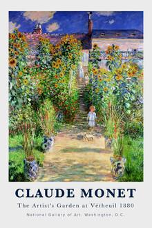 Art Classics, Claude Monet - The Artist's Garden at Vetheuil (Frankreich, Europa)