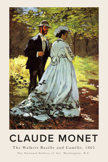 Art Classics, Claude Monet - The Walkers Bazille and Camille (France, Europe)