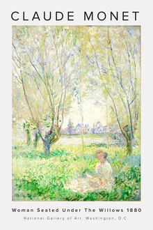 Claude Monet - Woman Seated Under The Willows - Fineart photography by Art Classics