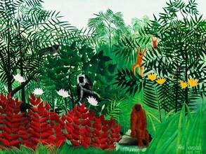Art Classics, Tropenwald mit Affen von Henri Rousseau (Deutschland, Europa)