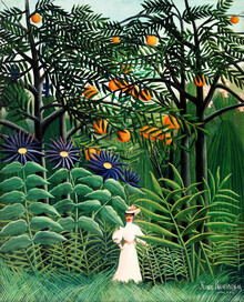 Art Classics, Woman Walking in an Exotic Forest by Henri Rousseau (Germany, Europe)