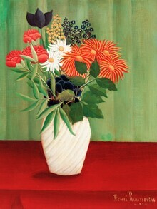 Art Classics, Bouquet of Flowers with China Asters and Tokyos by Henri Rousseau (Germany, Europe)