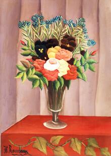 Art Classics, Bouquet of Flowers (Bouquet de fleurs) by Henri Rousseau (Germany, Europe)