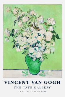 Art Classics, Vincent van Gogh: Vase mit weißen Rosen (1890) (Deutschland, Europa)
