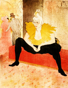 Art Classics, La Clownesse Assise by Henri de Toulouse-Lautrec (Germany, Europe)