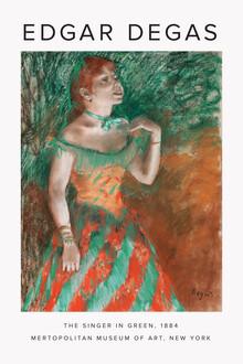 Art Classics, Die Sängerin in Grün von Edgar Degas (Deutschland, Europa)