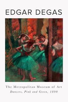 Art Classics, Tänzerinnen, Pink und Grün von Edgar Degas (Deutschland, Europa)