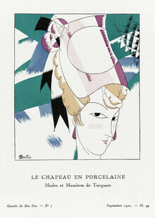 Art Classics, The porcelain hat by Charles Martin (Germany, Europe)
