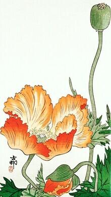Japanese Vintage Art, Vögel und Pflanzen von Ohara Koson (Deutschland, Europa)