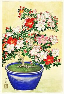 Japanese Vintage Art, Blühender Rhododendron von Ohara Koson (Deutschland, Europa)