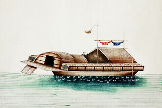 Vintage Collection, Chinese painting of a duck junk (Germany, Europe)