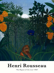 Art Classics, The Repast of the Lion by Henri Rousseau (Germany, Europe)