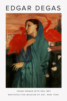 Art Classics, Exhibition poster: Young woman with Ibis by Edgar Degas (Germany, Europe)
