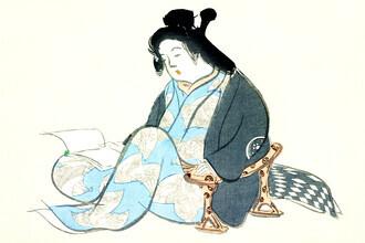 Japanese Vintage Art, Reading lady from Momoyogusa (Germany, Europe)
