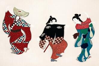 Japanese Vintage Art, Dancers from Momoyogusa (Germany, Europe)