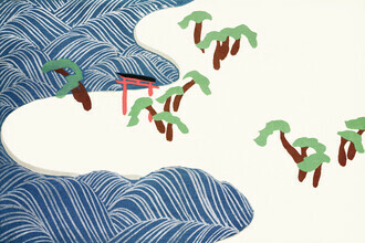 Japanese Vintage Art, Meereswellen aus Momoyogusa (Germany, Europe)