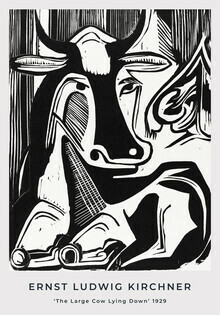 Art Classics, The Large Cow Lying Down by Ernst Ludwig Kirchner (Germany, Europe)