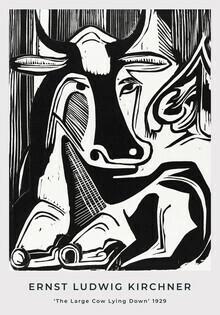 Art Classics, Die große Kuh im Liegen von Ernst Ludwig Kirchner (Deutschland, Europa)