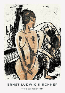 Art Classics, Two Women by Ernst Ludwig Kirchner (Germany, Europe)