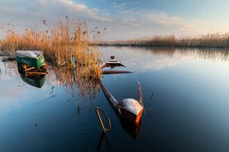 Mikolaj Gospodarek, Boot auf dem Fluss (Polen, Europa)