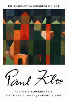 Art Classics, City of Towers - Paul Klee Ausstellungsposter (Germany, Europe)