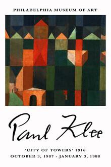 Art Classics, City of Towers - Paul Klee Ausstellungsposter (Deutschland, Europa)