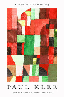Art Classics, Red and Green Architecture von Paul Klee (Germany, Europe)